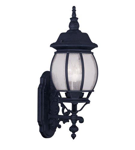 Livex 7902-04 Frontenac 3 Light 23 inch Black Outdoor Wall Lantern photo