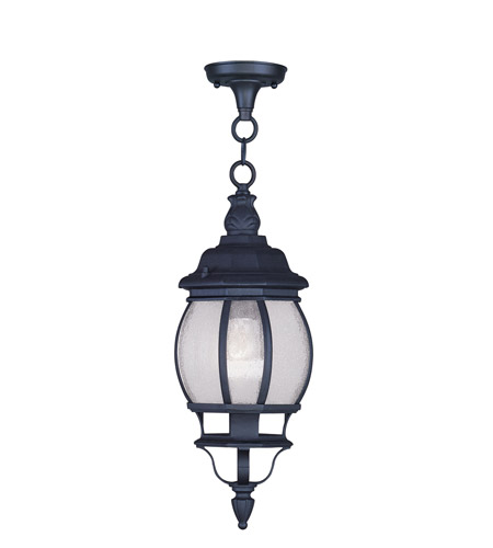 Livex Lighting Frontenac 1 Light Outdoor Hanging Lantern in Black 7906-04 photo
