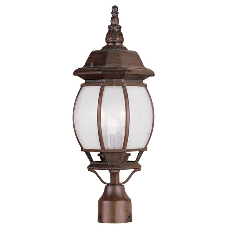 Livex Lighting Frontenac 3 Light Outdoor Post Head in Imperial Bronze 7907-58 photo