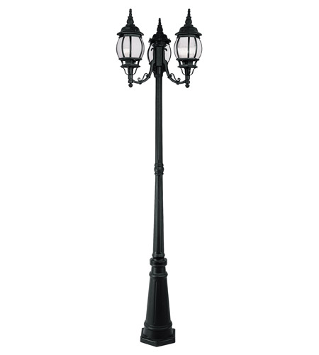 Livex Lighting Frontenac 3 Light Outdoor Post With Lights in Black 7913-04 photo