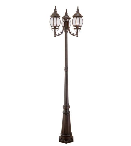 Livex Lighting Frontenac 3 Light Outdoor Post With Lights in Imperial Bronze 7913-58 photo