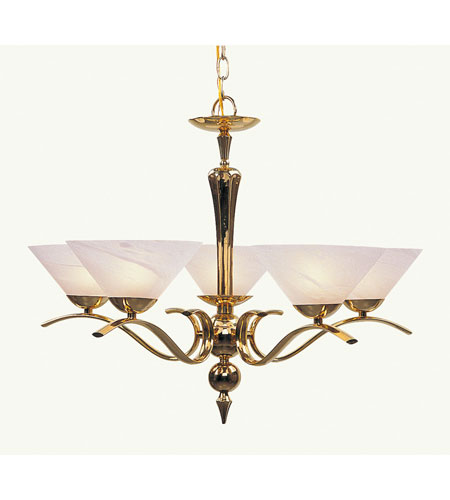 Livex Lighting Nouveau 5 Light Chandelier in Polished Brass 8005-02 photo