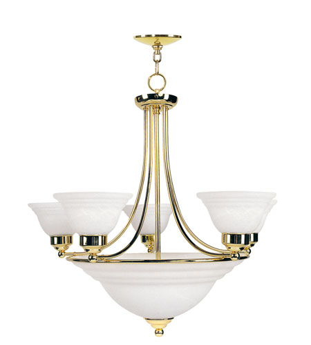 Livex Lighting North Port 8 Light Chandelier in Polished Brass 8032-02 photo