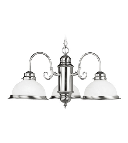 Livex 8103-91 Home Basics 3 Light 23 inch Brushed Nickel Chandelier Ceiling Light photo