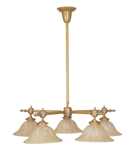 Livex Lighting Gas Light 5 Light Chandelier in Vintage Brass 8135-93 photo