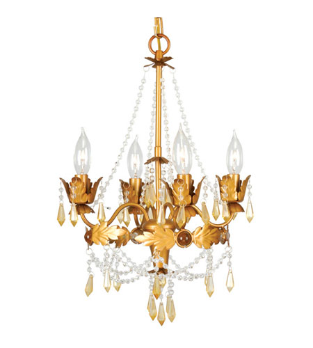 Livex Lighting Athena 4 Light Mini Chandelier in Autumn Gold 8184-55 photo