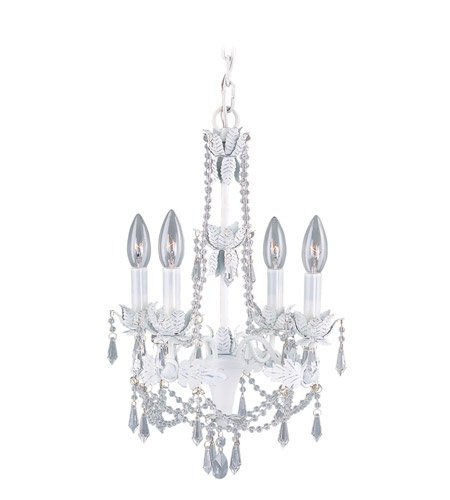 Livex Lighting Athena 4 Light Mini Chandelier in Antique White 8184-60 photo