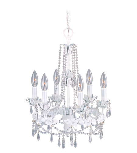 Livex Lighting Athena 6 Light Chandelier in Antique White 8186-60 photo