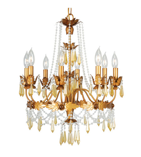Livex Athena 8 Light Chandelier in Autumn Gold 8188-55 photo
