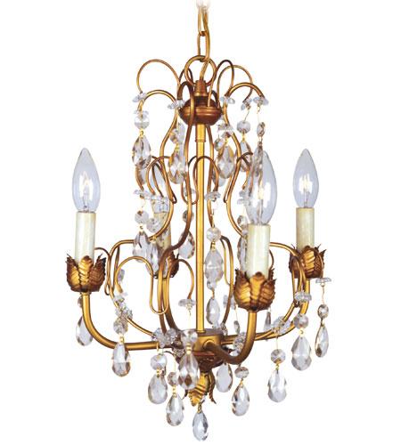 Livex Athena 4 Light Chandelier in Autumn Gold 8193-55 photo