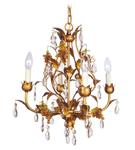 Livex Lighting Athena 4 Light Chandelier in Autumn Gold 8194-55 photo