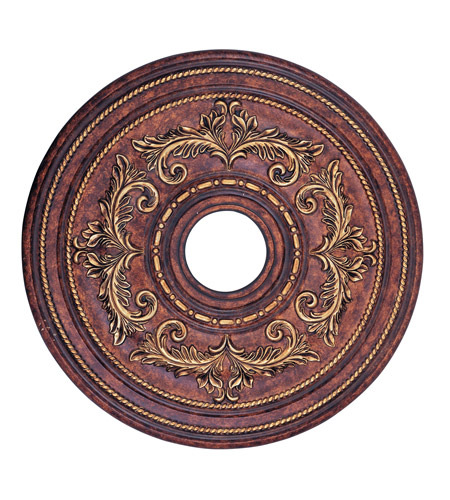 Livex 8200-63 Ceiling Medallion Verona Bronze with Aged Gold Leaf Accents Accessory photo