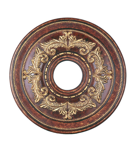 Livex 8205-63 Ceiling Medallion Verona Bronze with Aged Gold Leaf Accents Accessory photo