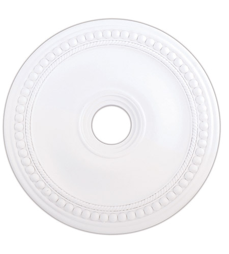 Livex 82075-03 Wingate White Ceiling Medallion photo