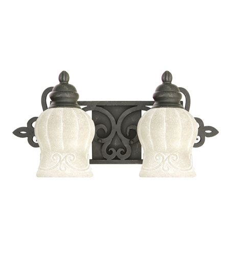 Livex Lighting Royal 2 Light Bath Light in Distressed Iron 8212-54 photo