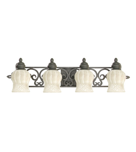 Livex Lighting Royal 4 Light Bath Light in Distressed Iron 8214-54 photo