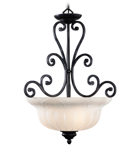 Livex Lighting Royal 3 Light Pendant in Distressed Iron 8224-54 photo