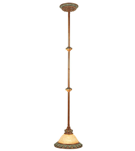 Livex Lighting Salerno 1 Light Mini Pendant in Crackled Bronze with Vintage Stone Accents 8260-17 photo