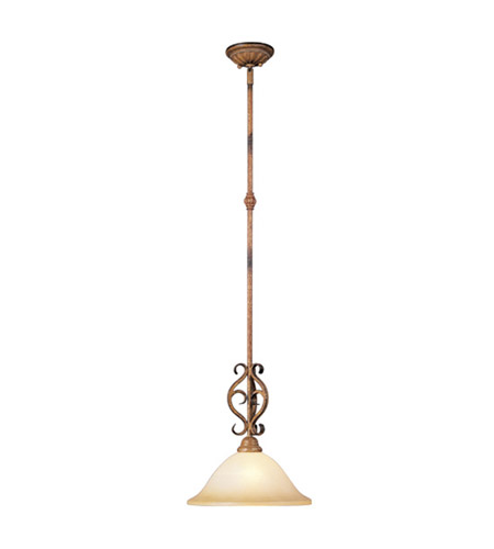Livex Lighting Bistro 1 Light Pendant in Venetian Patina 8271-57 photo
