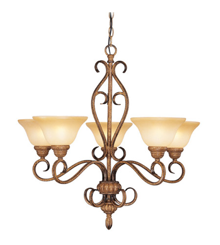 Livex Lighting Bistro 5 Light Chandelier in Venetian Patina 8276-57 photo