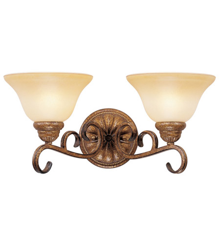 Livex Lighting Bistro 2 Light Bath Light in Venetian Patina 8282-57 photo