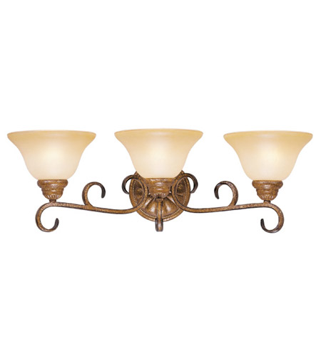 Livex 8283-57 Bistro 3 Light 26 inch Venetian Patina Bath Light Wall Light photo
