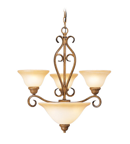 Livex Lighting Bistro 3 Light Chandelier in Venetian Patina 8285-57 photo