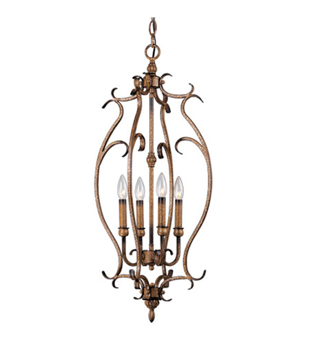 Livex Lighting Bistro 4 Light Foyer Pendant in Venetian Patina 8287-57 photo