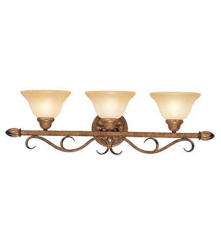 Livex Lighting Bistro 3 Light Bath Light in Venetian Patina 8293-57 photo