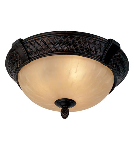 Livex Arcadia 3 Light Ceiling Mount in Hand Rubbed Bronze with Antique Silver Accents 8398-40 photo