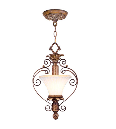Livex 8421-57 Savannah 1 Light 9 inch Venetian Patina Pendant/Ceiling Mount Ceiling Light photo