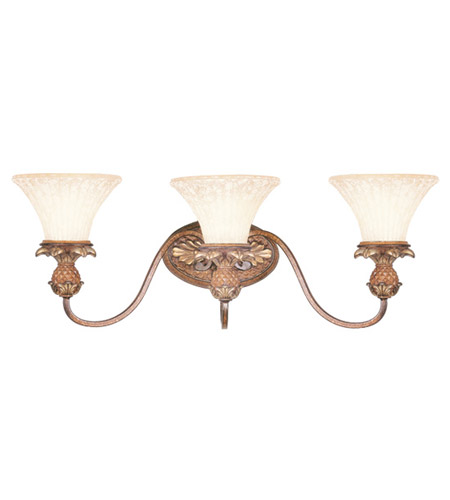 Livex Lighting Savannah 3 Light Bath Light in Venetian Patina 8423-57 photo