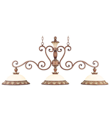 Livex Savannah 3 Light Island in Venetian Patina 8426-57 photo