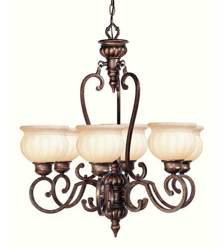 Livex Lighting Renaissance 6 Light Chandelier in Moroccan Gold 8436-50 photo