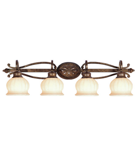 Livex Lighting Renaissance 4 Light Bath Light in Moroccan Gold 8444-50 photo
