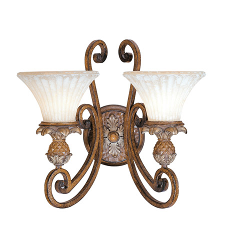 Livex 8452-57 Savannah 2 Light 17 inch Venetian Patina Wall Sconce Wall Light photo