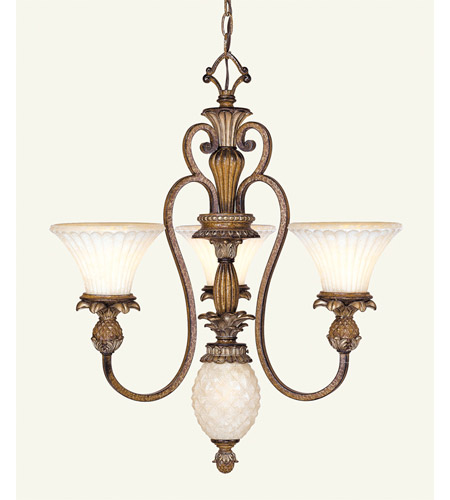 Livex 8453-57 Savannah 4 Light 24 inch Venetian Patina Chandelier Ceiling Light photo