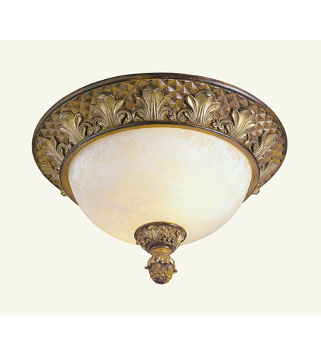 Livex Lighting Savannah 2 Light Ceiling Mount in Venetian Patina 8457-57 photo