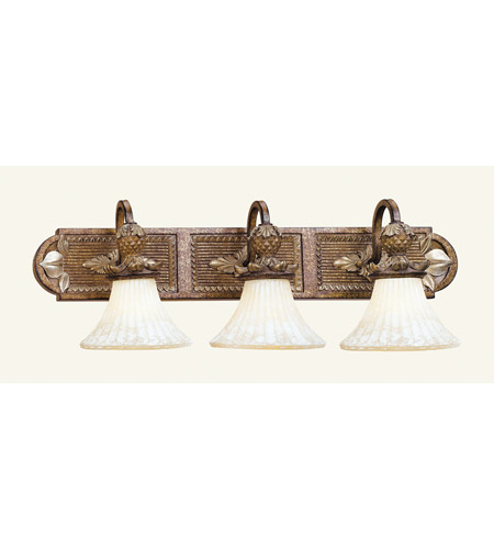 Livex Lighting Savannah 3 Light Bath Light in Venetian Patina 8463-57 photo