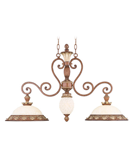Livex 8472-57 Savannah 3 Light 38 inch Venetian Patina Island Light Ceiling Light photo