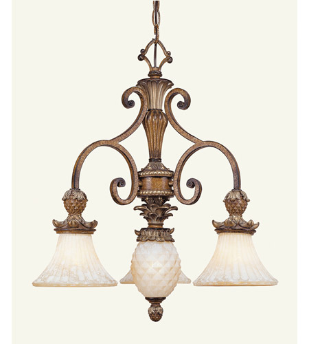 Livex Lighting Savannah 3 Light Chandelier in Venetian Patina 8473-57 photo