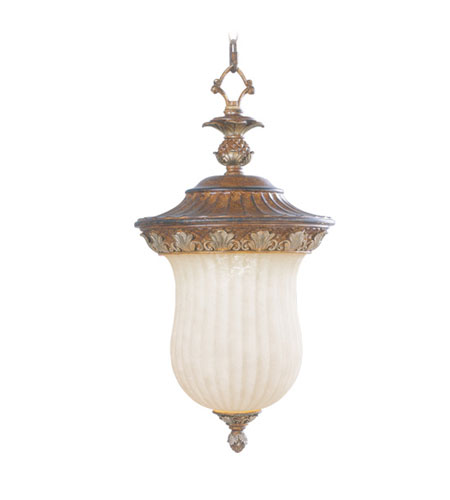 Livex Lighting Savannah 1 Light Outdoor Hanging Lantern in Venetian Patina 8492-57 photo