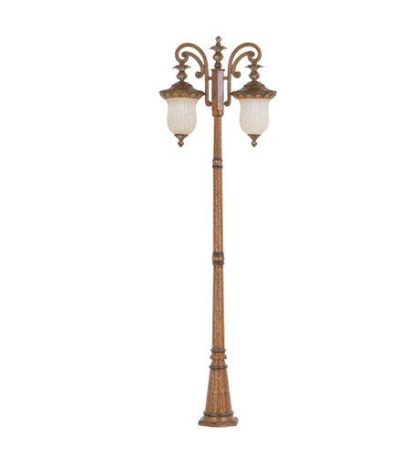 Livex Lighting Savannah 2 Light Outdoor Post With Lights in Venetian Patina 8499-57 photo