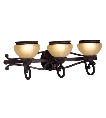 Livex Lighting Aladdin 3 Light Bath Light in Rustic Copper 8503-47 photo