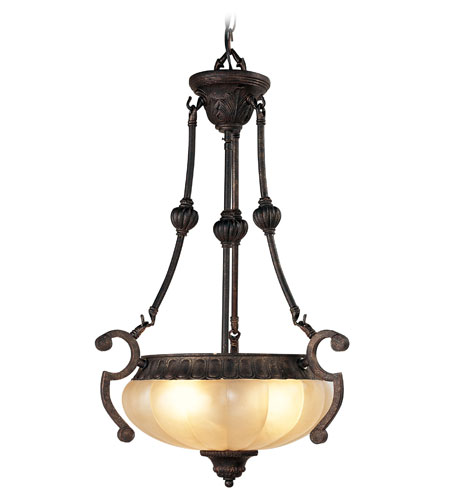 Livex Lighting Aladdin 3 Light Chandelier in Rustic Copper 8507-47 photo