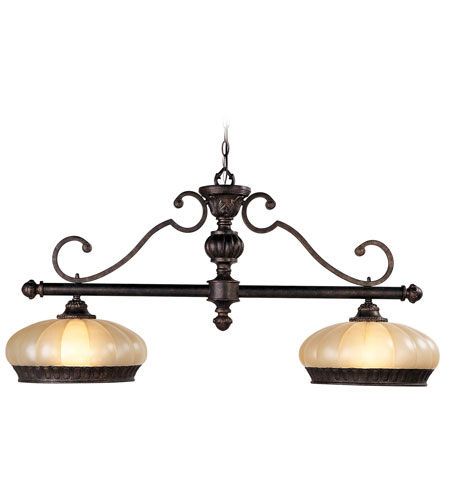 Livex Lighting Aladdin 2 Light Chandelier in Rustic Copper 8509-47 photo