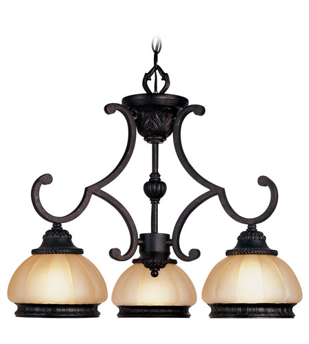Livex Lighting Aladdin 3 Light Chandelier in Rustic Copper 8513-47 photo