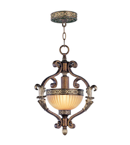 Livex 8530-64 Seville 1 Light 13 inch Palacial Bronze with Gilded Accents Foyer Pendant Ceiling Light photo