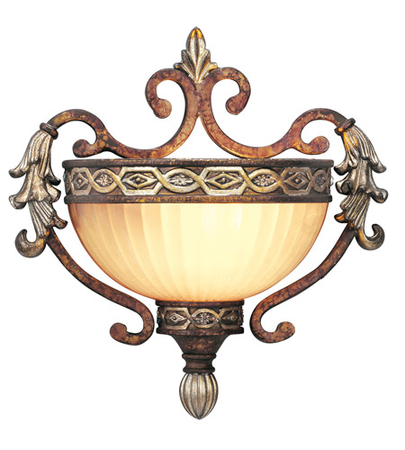 Livex Lighting Seville 1 Light Wall Sconce in Palacial Bronze with Gilded Accents 8540-64 photo