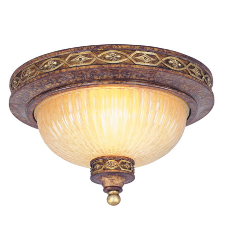 Livex 8541-64 Seville 2 Light 11 inch Palacial Bronze with Gilded Accents Ceiling Mount Ceiling Light photo